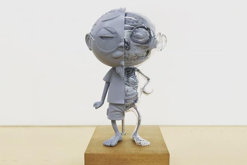 Takashi Murakami Self-Portrait Sculpture Tetsuya Tomonai Flayed Vinyl Toy Collectible Figure