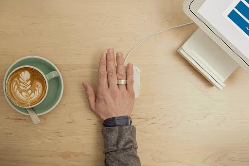 Token Smart Ring Brush Black Rhodium 14K Rose Gold wallet keys car home credit card wearable technology