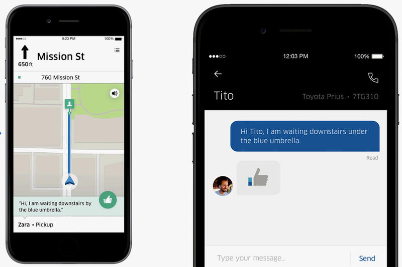 Uber In-App Messaging Feature Chat Texting