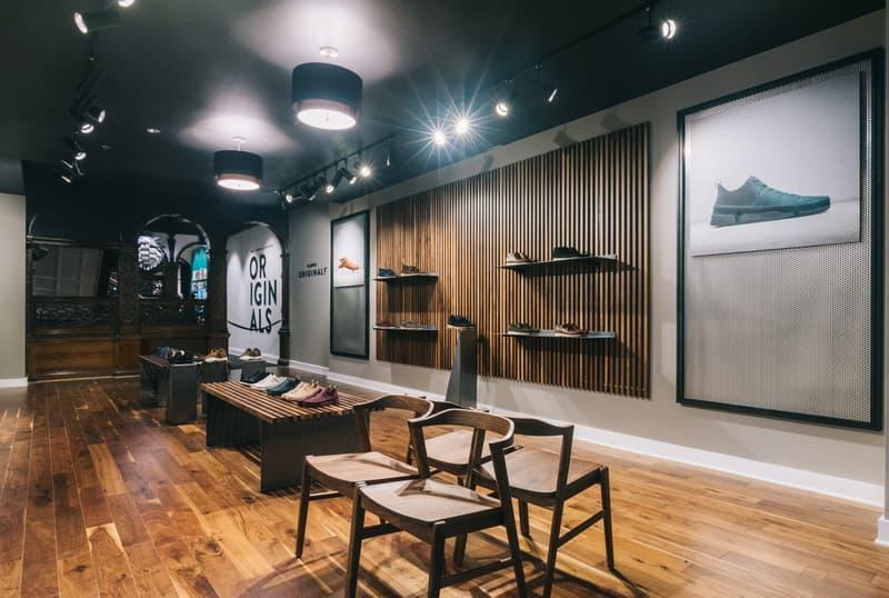 UBIQ x Clarks Originals Pop-Up in Philadelphia Trigenic Evo store interior