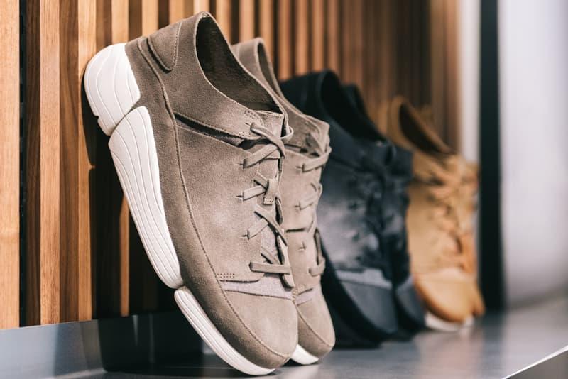 UBIQ x Clarks Originals Pop-Up in Philadelphia Trigenic Evo leather sneakers