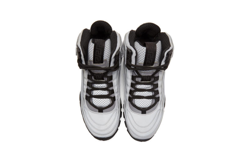 Versace Greek Key Formal High Top Sneaker