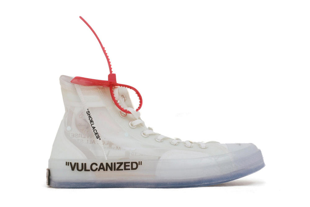 Virgil Abloh Customized Converse Chuck Taylor All Star Pictures Pics Nike Off Campus White