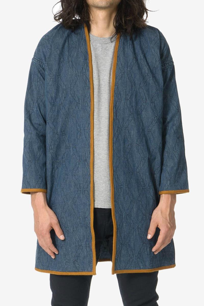 visvim Sanjuro Indigo Bamboo Coat