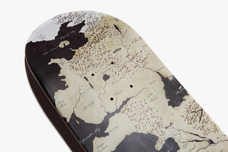 V/SUAL Rep the Realm Skate Deck Westeros Map Game of Thrones