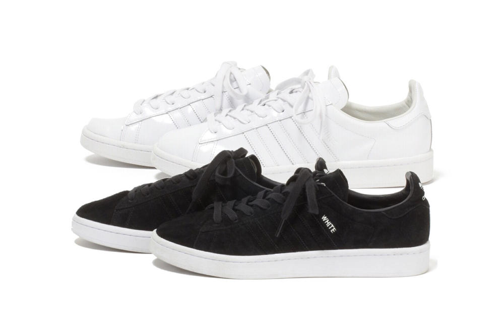 White Mountaineering adidas Originals 2017 Summer Campus 80s White Black Sneakers Shoes Footwear August 3 Release Date Info