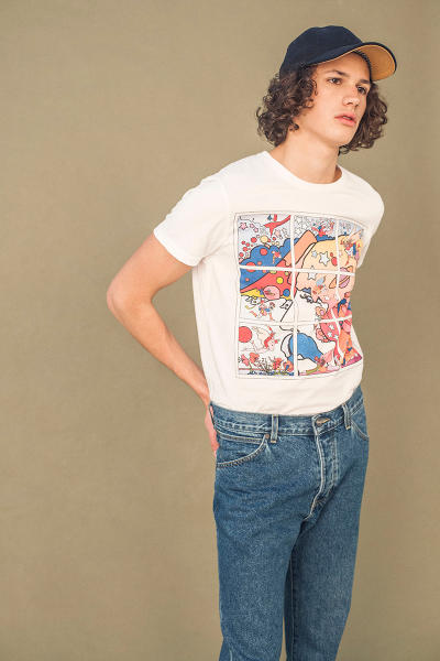 Peter Max Wrangler Jeans Autumn/Winter Collection Flower Power Peace Sign Woodstock Psychedelic Art