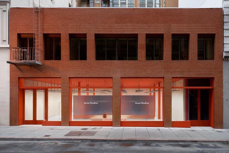 Acne Studios San Francisco California Golden Gate Bridge Retail Fashion Clothing Store