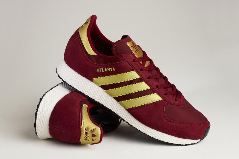 adidas Originals Atlanta size Exclusive Blue Silver Maroon Gold 2017 September 15 Release Date Info Sneakers Shoes Footwear