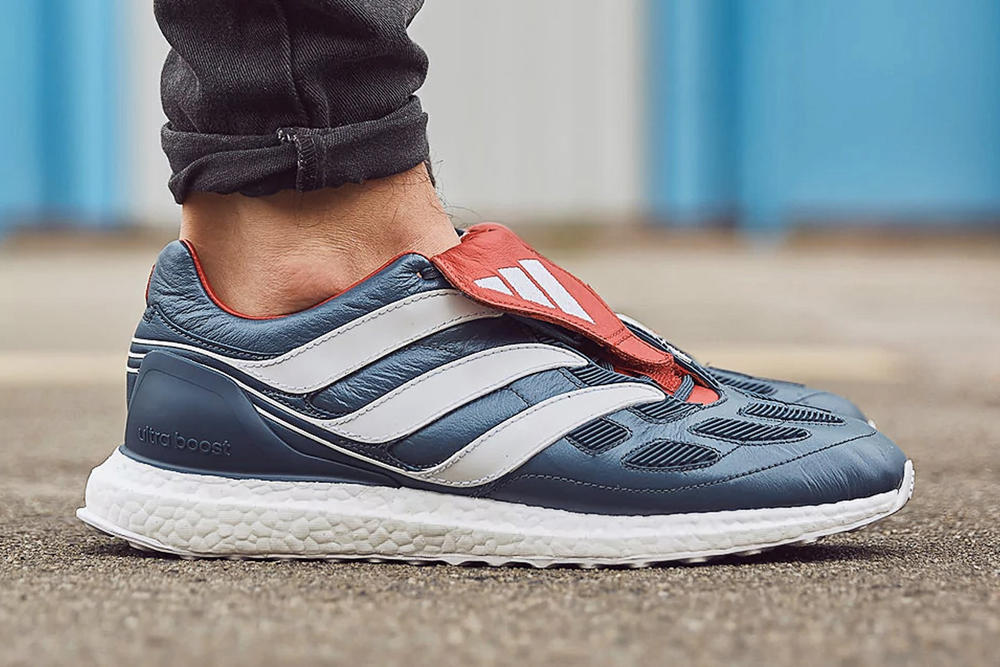 adidas Predator Precision UltraBOOST Ultra BOOST Blue Grey White Collegiate Red 2017 September 9 Release Date Info Sneakers Shoes Footwear Soccer Football Cleats