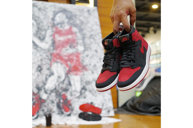 Air Jordan 1 Paint Michael Jordan Portrait