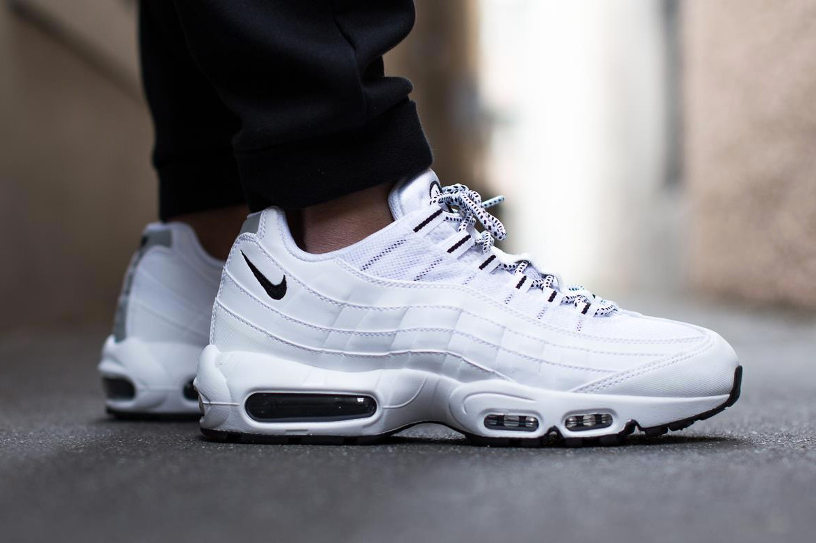 nike air max 95 white and black