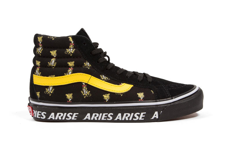 Vans Aries Sk8-Hi Slip-On Collaboration Palace Fergus Purcell