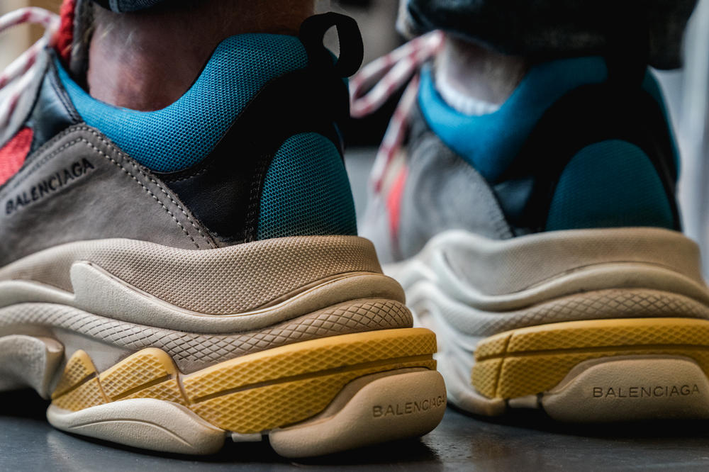 Balenciaga Triple S Closer Look footwear trainer