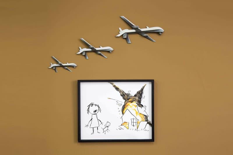 Banksy Anti Weapons Artwork Art The Arms Fair Contribution Work Civilian Drone Strike