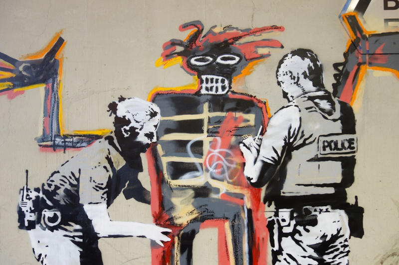 Banksy Art Jean-Michel Basquiat Exhibit