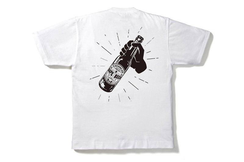 a bathing ape aape BAPE Beer T-shirt Collection Vogue Fashion Night Out capsule tokyo japan