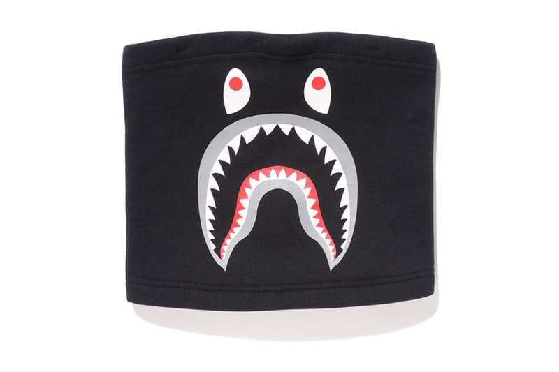 BAPE Black Shark Mask Neck Warmer A Bathing Ape 2017 September 16 Release Date Info Saturday
