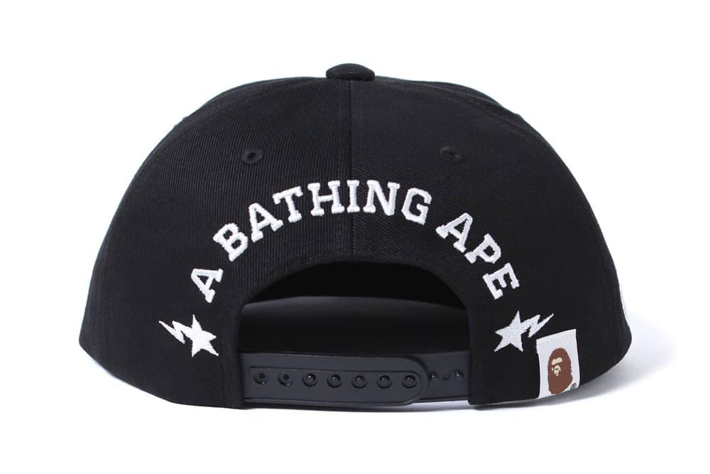 BAPE A Bathing Ape NYC New York City Snapback Camo Hat Cap Black Purple Accessories Release Date Info September 2