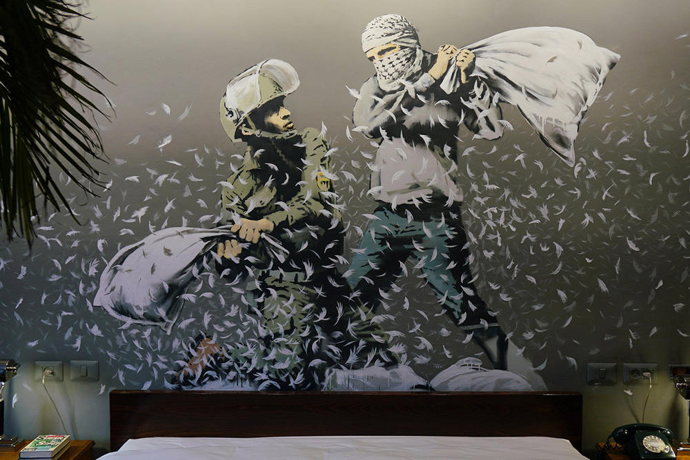 Banksy Walled Off Hotel Gift Shop Art Artwork Sculpture Daniel Arsham Future Relic 08 Tom Sachs Objects of Devotion Ari Marcopoulos Machine Frank Elbaz Gallery