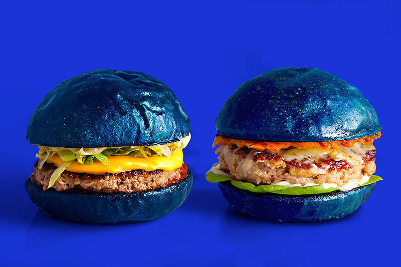 colette blend Farewell Cheeseburger Collaboration Blue Bun