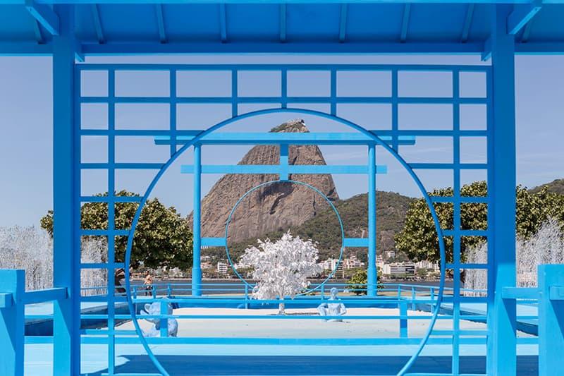 Daniel Arsham Blue Zen Garden Rio Sugar Loaf Mountain rio de janeiro