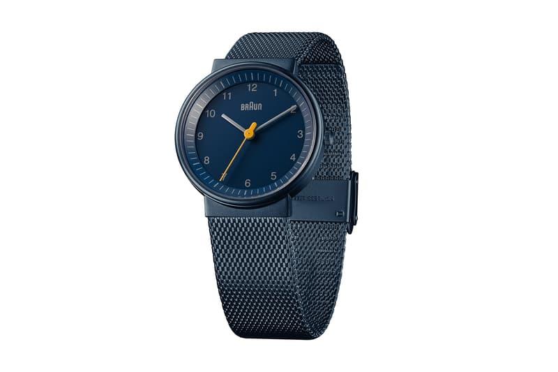 dezeen Braun BN0031 Watch Blue Dial Mesh Dieter Rams Limited Edition