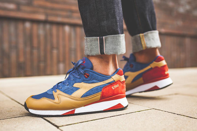 Diadora V7000 Premium Dutchblue Croissant Ketchup Blue Tan Red Sneakers Shoes Footwear 2017 September Release Date Info Afew