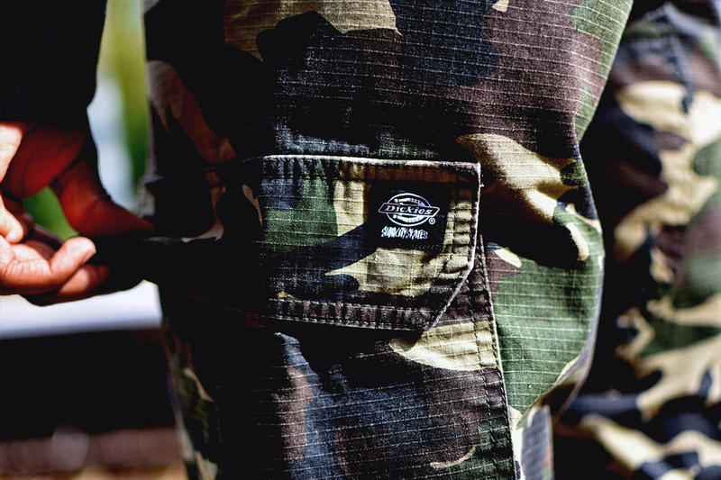 Dickies x Slam City Skates Camouflage Trousers Sidebag New Collaboration First Look Lookbook