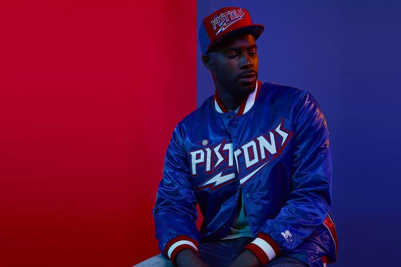 DTLR Starter NBA Capsule Collection Detroit Pistons jacket
