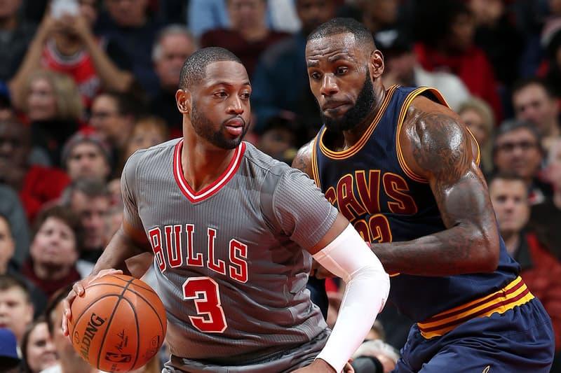 Dwyane Wade LeBron James Cleveland Cavaliers NBA Chicago Bulls