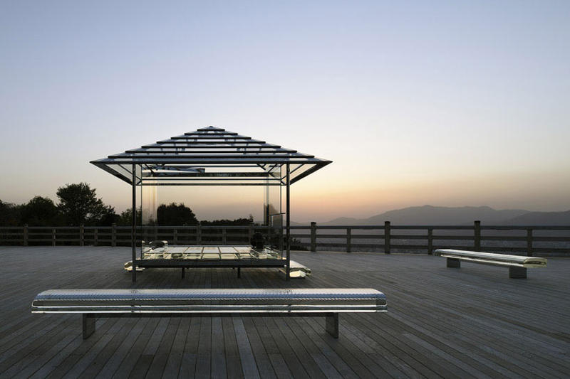 Tokujin Yoshioka's Glass Tea House Kyoto Tour Japan