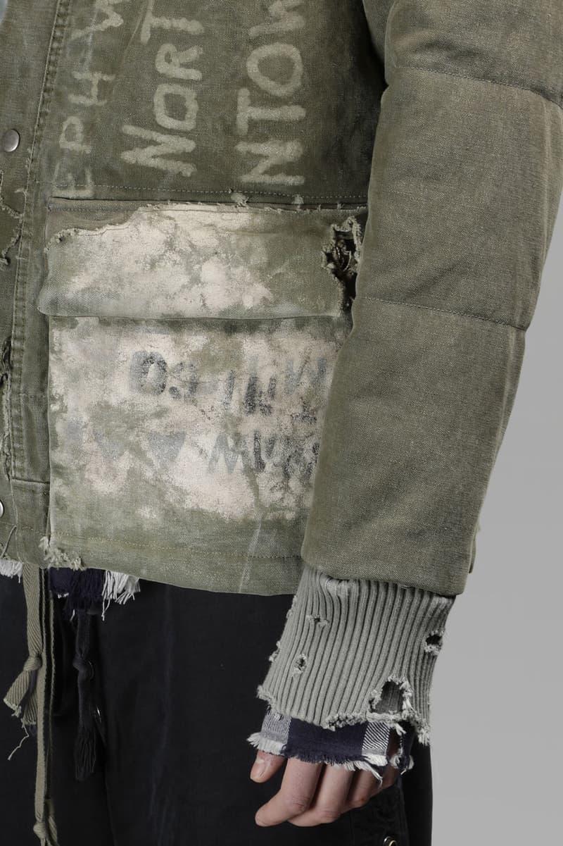 Greg Lauren Destroyed Duffle Retro Jacket