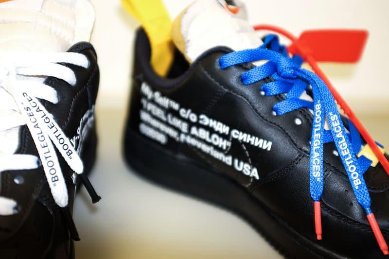 Virgil Abloh Off-White Nike Footwear Collection Sneakers Shoes Air Jordan 1 VaporMax Air Presto Air Max 90 Nike Blazer Bootleg