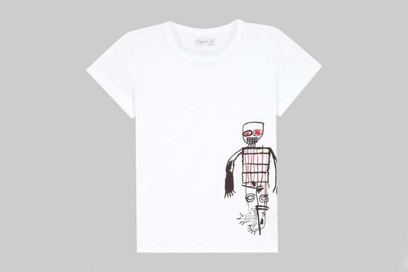 agnès b. Jean-Michel Basquiat Artist T-Shirts