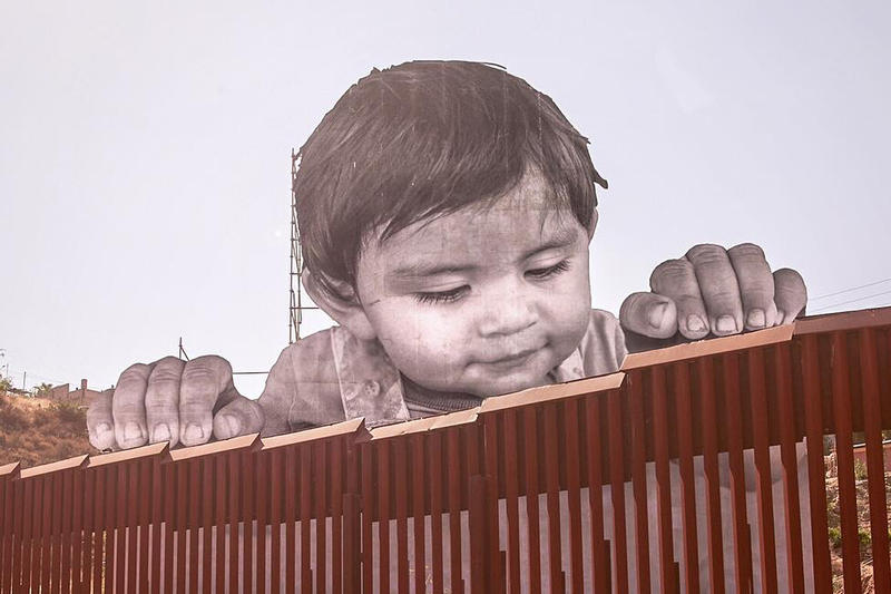 JR Child Artwork US Mexico Border Tecate United States Wall Kikito Tecate wall kid donald trump immigration immigrant