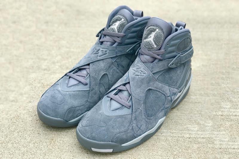 KAWS Nike Air Jordan 8 Custom truebluecustoms Sneakers Suede Embossed Paint
