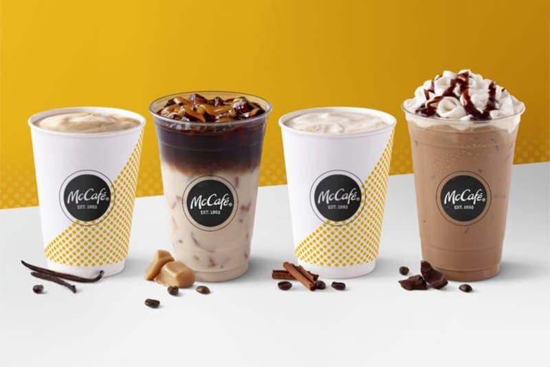 McDonalds McCafe Caramel Macchiato Vanilla Cappuccino Americano Coffee Espresso Starbucks Rebrand