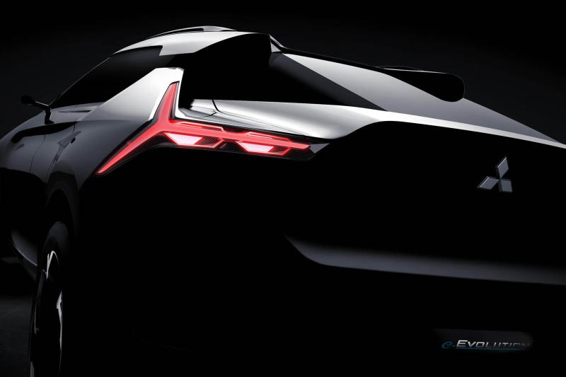 Mitsubishi Evo Electric Crossover Concept Teaser Evolution Cars