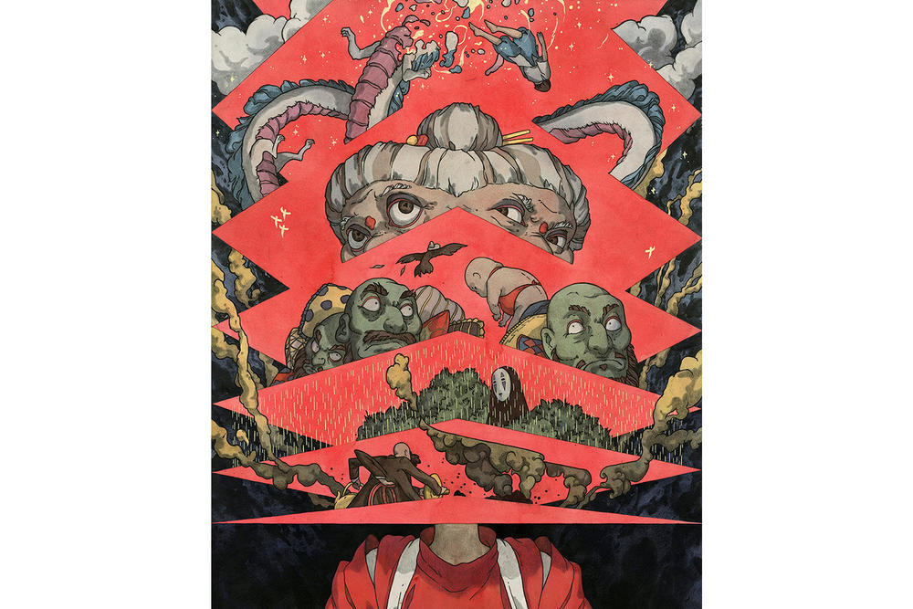 Hayao Miyazaki Spoke Art Gallery New York City Art Artwork Exhibit Studio Ghibli