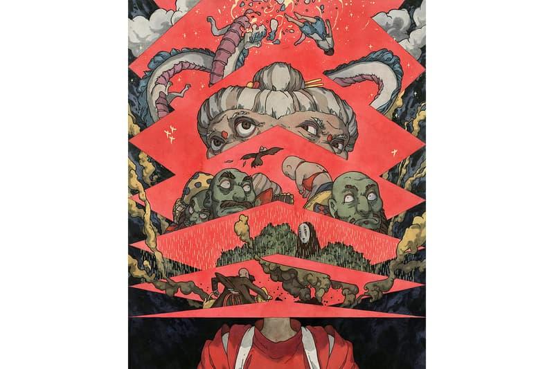 Hayao Miyazaki Spoke Art Gallery New York City Art Artwork Exhibit Studio Ghibli