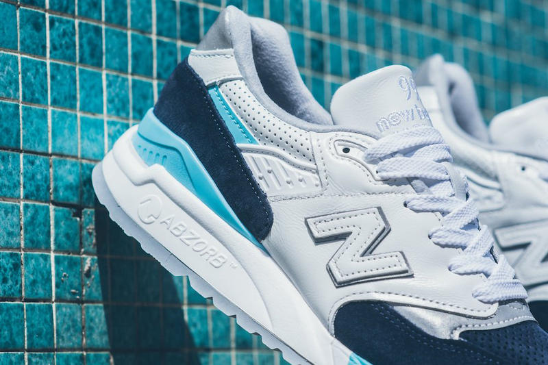 New Balance 998 White/Navy/Blue/Silver Colorway