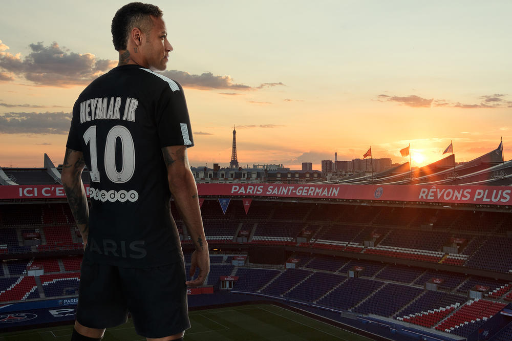 Neymar New PSG Third Kit Nike Paris Saint-Germain