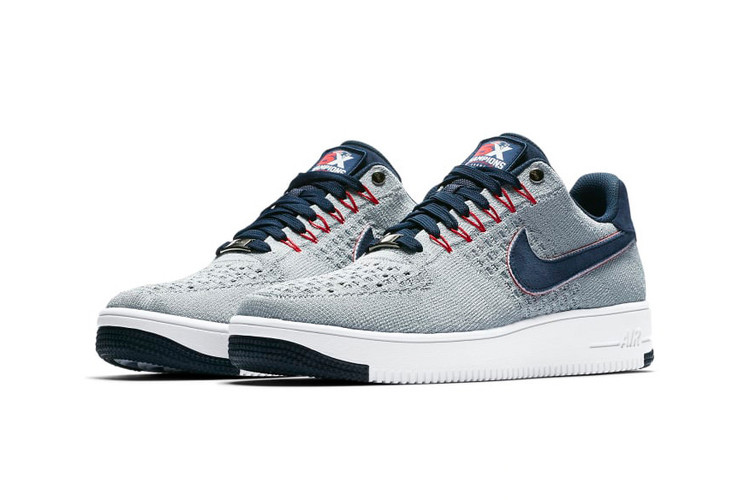 online store d883f 2af39 Nike Reveals a New England Patriots Air Force 1 Ultra Flyknit Low