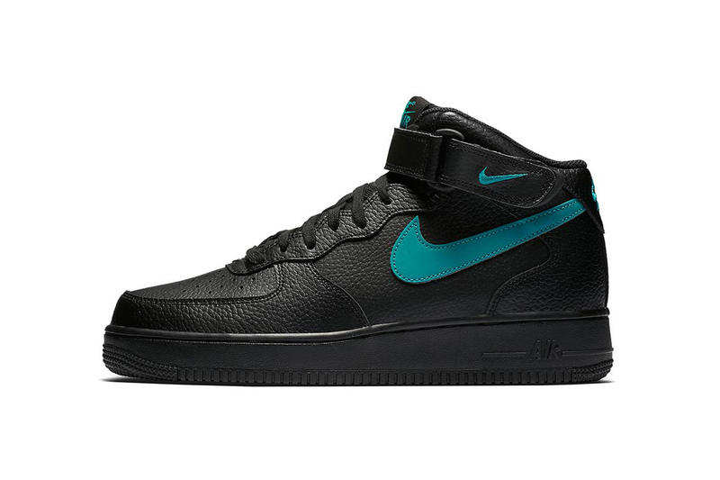 size 40 ffbfc 0805e Nike Air Force 1 Mid Black Leather Pack Purple Teal Green Blue White