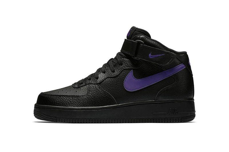 Nike Air Force 1 Mid Black Leather Pack Purple Teal Green Blue White