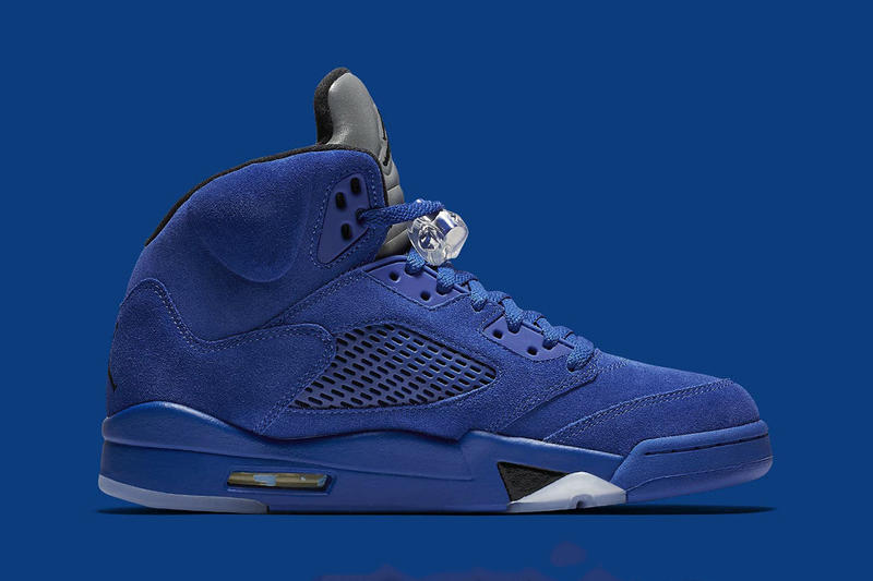 Air Jordan 5 Retro Flight Suit Blue Suede