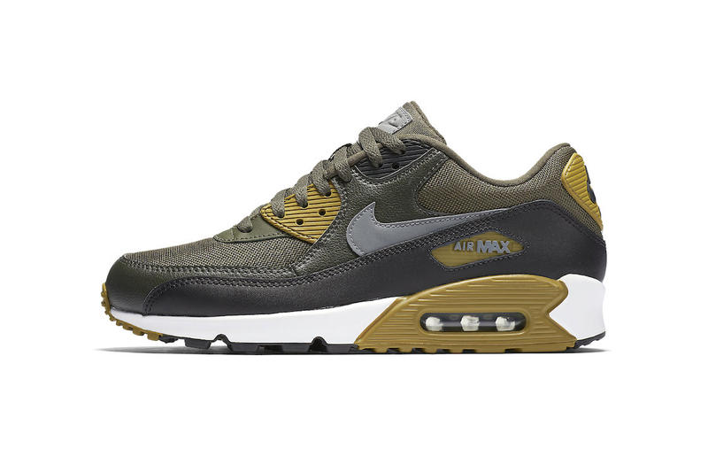 bf91130cc5b9 Nike Air Max 90 Essential Cargo Khaki Black Sequoia Cool Grey 2017 Fall  September Release Date