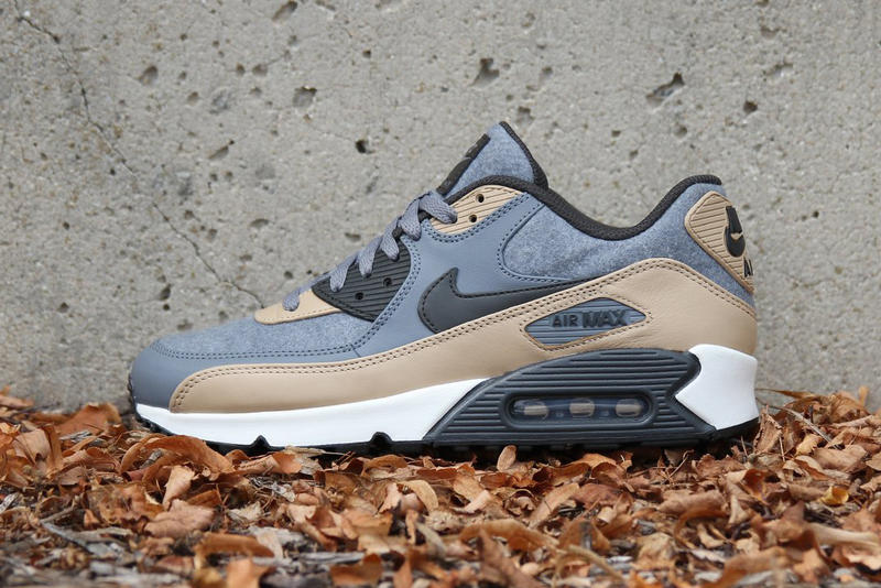 best sneakers 56338 a0f7f Nike Air Max 90 Premium Wool Cool Grey Deep Pewter Mushroom Wolf 2017 Fall  September Release