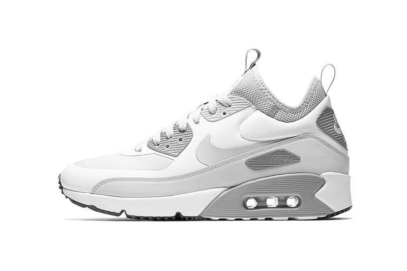 Nike Air Max 90 Ultra Mid Winter 2017 Fall Release Date Info Sneakers Shoes Footwear Black White Sequoia Olive Green
